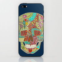 flower skull iPhone &amp; iPod Skin by Sharon Turner | Society6