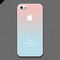 iPhone 5 Case - Pastel gradation//  lightpink  & lightcyan - also available in iPhone4s and Galaxy S3