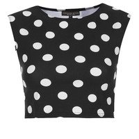 Petite Spot Stretch Crop Top - New In This Week - New In - Topshop