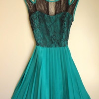 Beautiful Green Pleated ...