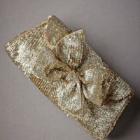Gold Leaf Clutch in  Explore Material Love Vintage Metals at BHLDN