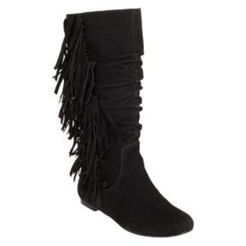Yoki  Women's Mudd Fringe Boot - Black