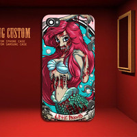 Ariel Little Mermaid Zombie Design - iPhone 4 iPhone 4S iPhone 5 Case ( Black / White )