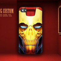 Iron Man Skull Helmet Design - iPhone 4 iPhone 4S iPhone 5 Case , Samsung Galaxy S2 Galaxy S3 ( Black / White )