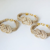 Bridesmaid Wedding Set of 3 Nautical Silk cord Light by pardes