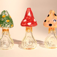 Set of 3 Agaric Glass Pipes