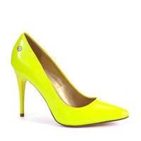 Blink Yellow Neon Pointed Court Shoes