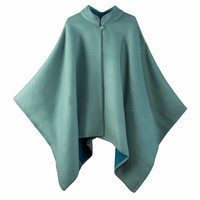 Blue Green Alpaca Cape