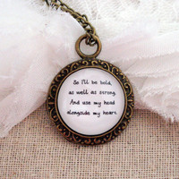 Mumford and Sons I Will Wait Inspired Lyrical Quote Necklace