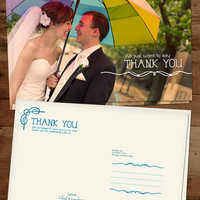 Photo wedding thank you card thank you card by lindsayleedesign