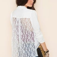 Lace Back Blazer - Ivory in  What&#x27;s New at Nasty Gal