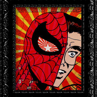 Peter Parker - Spiderman Superhero - Retro Inspired 8x10 Art Print