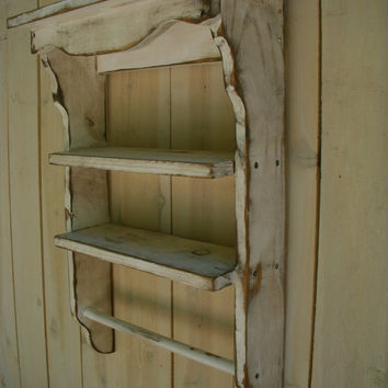 Handmade Wooden Shelf Towel Holder Shabby by honeystreasures