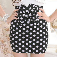 Fashion Women Ladies Cute Mini fitted Apparel Polka Dot Skirt new