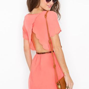 Scalloped Cutout Dress in  What's New at Nasty Gal