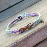 Infinity Hemp Bracelet His Hers Pastel Made to Order