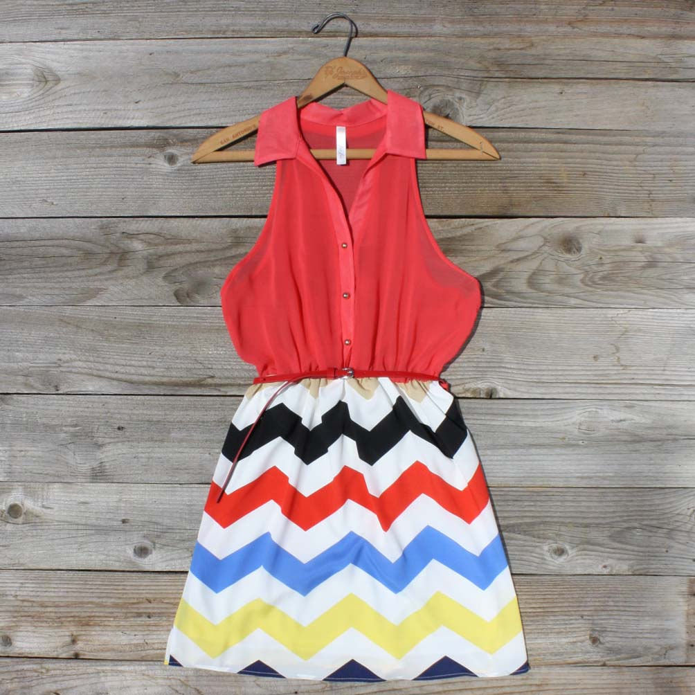 Broken Arrow Chevron Dress, Sweet Women's Country Clothing