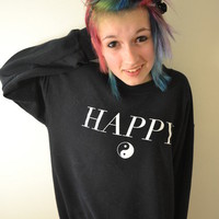 Happy (Crewneck Sweatshirt) | STAY GREAT APPAREL