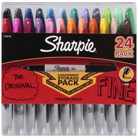 Sharpie Permanent Markers Fine Assorted Colors - 24ct