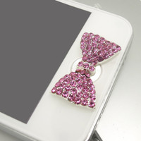 1PC Bling  Paved Crystal Flower Apple iPhone by StudioOrangeStar