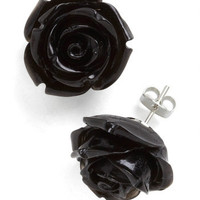 Retro Rosie Earrings in Black | Mod Retro Vintage Earrings | ModCloth.com