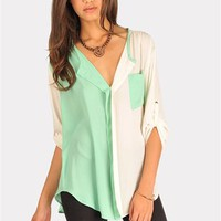 Orbit Blouse - Mint