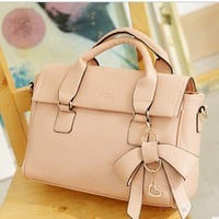 Fashion perfect dimensional bow handbag