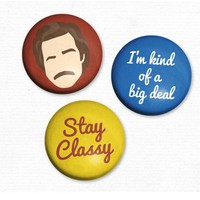 Ron Burgundy Anchor Man - Set of 3 Magnets - Whimsical &amp; Unique Gift Ideas for the Coolest Gift Givers