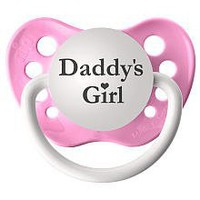 Personalized Pacifier - Daddy's Girl Pink