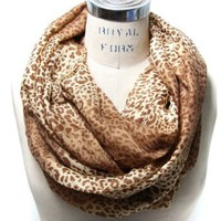 Amazon.com: Scarfand's Colorful Leopard Print Infinity Scarf (Camel): Clothing