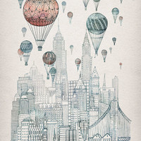 Voyages Over New York Art Print | Print Shop