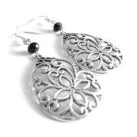 Flower Vine Drop Earrings