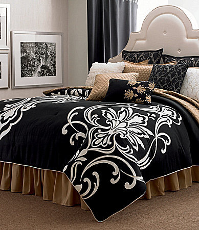 Candice Olson Grand Damask Black Bedding From Dillard 39 S