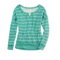 Aerie Striped Split Neck Popover | Aerie for American Eagle