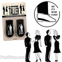 Look Taller Shoe Lifts | All Gag Gifts | FunSlurp.com
