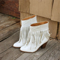 Vintage Fringe Cowboy Boots, Sweet Country Clothing