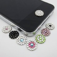 Amazon.com: New Bling Rhinestone Diamond Crystal Home Button Sticker for iphone: Cell Phones & Accessories