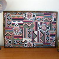 Tribal Print Fabric Cork Board by TerraCasa on Etsy