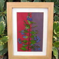 Framed Pressed Amethyst Flower by TerraCasa on Etsy