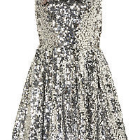 BNWT TOPSHOP Sequin Skater Dress UK 8-UK 10