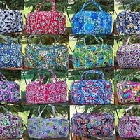 VERA BRADLEY Large Duffel Travel Bag NEW Tote Travel Bag Variety of Patterns