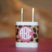 iPhone charger monogram sticker