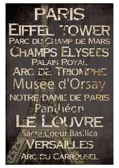 ideeli | LOT26 STUDIO Paris Canvas Wall Hanging