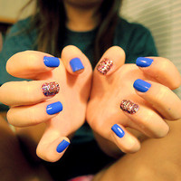blue, cute, hands, nails - inspiring picture on Favim.com