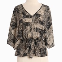 Arbor Crest Print Top In Black | Modern Vintage New Arrivals