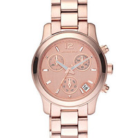 Michael Kors Watch, Women's Chronograph Runway Rose Gold Tone Stainless Steel Bracelet 33mm MK5430 - All Watches - Jewelry & Watches - Macy's
