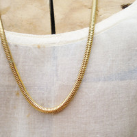 Vintage Goldtone Snake Chain Necklace