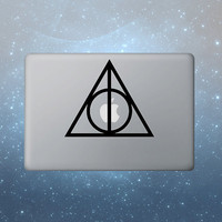 Deathly Hallows Harry Potter macbook decals by blueboxdecals