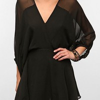 Smith Balloon-Sleeve Silk Chiffon Dress