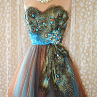 TURQUOISE PEACOCK PROM C...